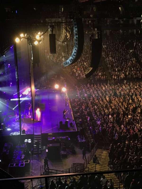 Oracle Arena, secção: 219, fila: 3, lugar: 4