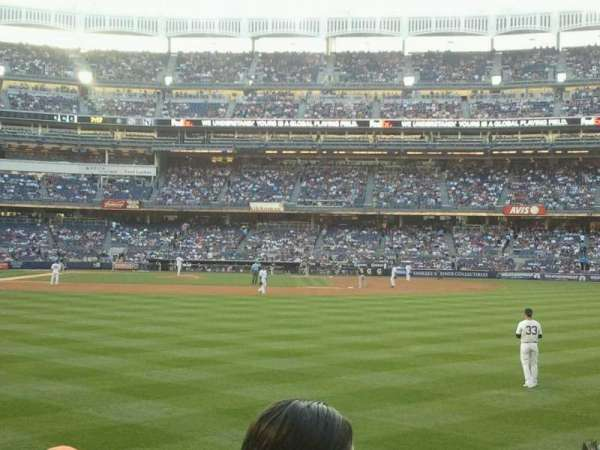 Yankee Stadium, secção: 105, fila: 12, lugar: 8