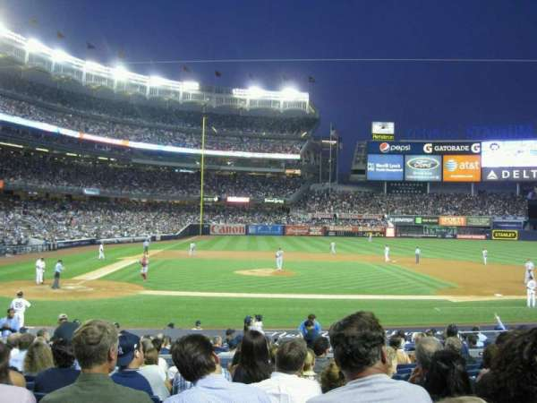 Yankee Stadium, secção: 117A, fila: 21, lugar: 9