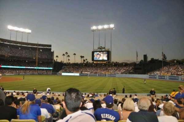 Dodger Stadium, secção: 40FD, fila: M, lugar: 1