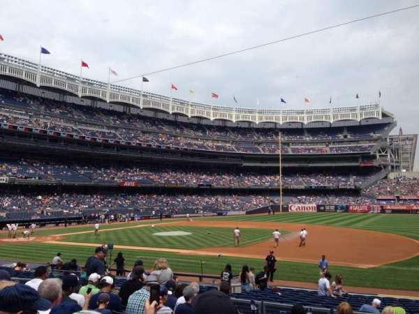 Yankee stadium, secção: 114b, fila: 20, lugar: 4