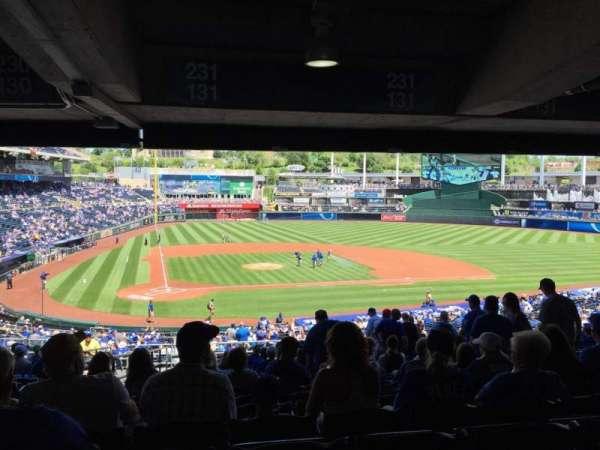Kauffman Stadium, secção: 231, fila: TT, lugar: 4