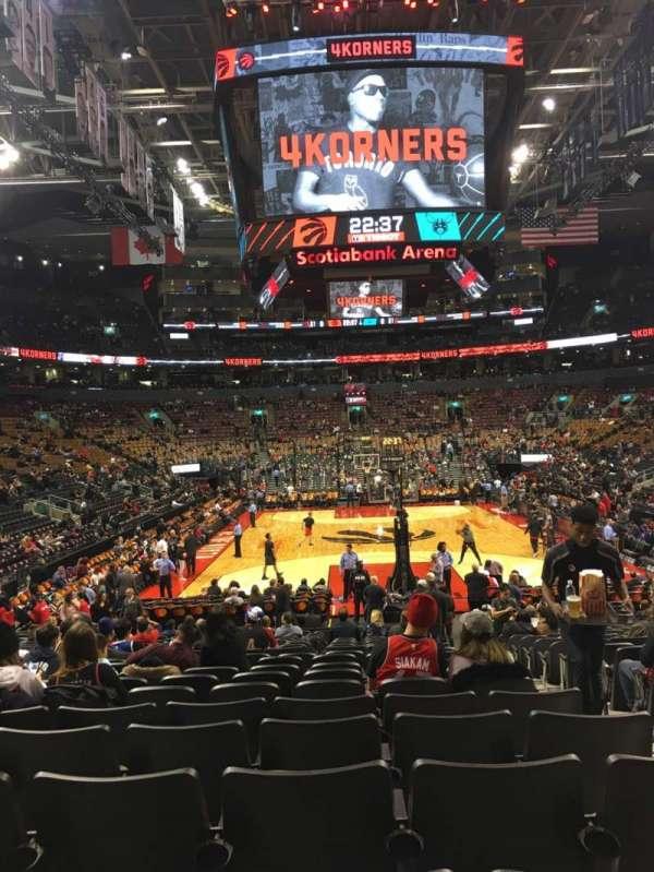 Scotiabank Arena, secção: 103, fila: 15, lugar: 3