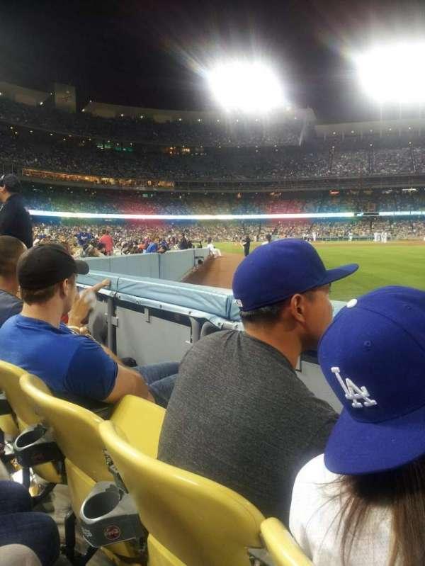 Dodger Stadium, secção: 48FD, fila: A, lugar: 10