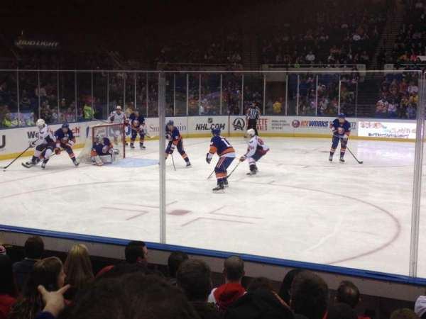Old Nassau Veterans Memorial Coliseum, secção: 118, fila: F, lugar: 1