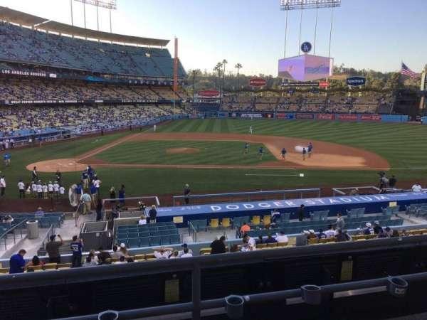 Dodger Stadium, secção: 128LG, fila: C, lugar: 7