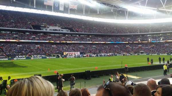 Wembley Stadium, secção: 105, fila: 15, lugar: 73