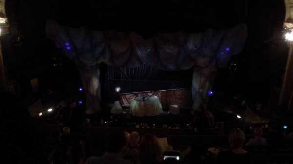 Majestic Theatre, secção: Rear Mezzanine RC, fila: H, lugar: 102
