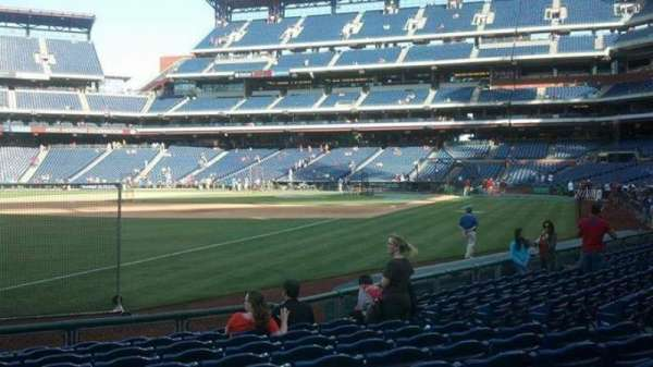 Citizens Bank Park, secção: 137, fila: 11, lugar: 11