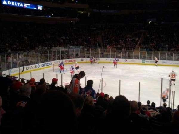 Madison Square Garden, secção: 106, fila: 10, lugar: 13