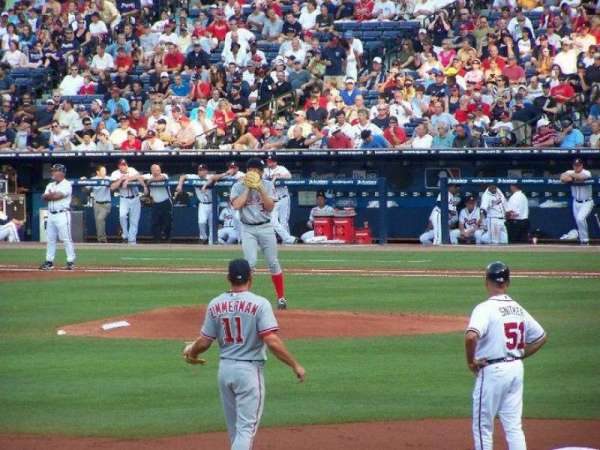 Turner Field, secção: 222, fila: 6, lugar: 7