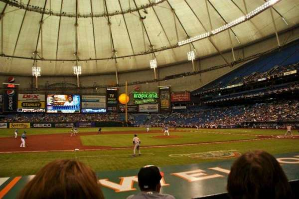 Tropicana Field, secção: 117, fila: M