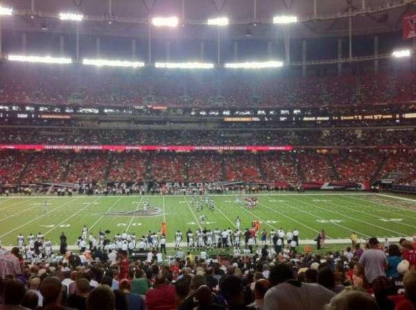 Georgia Dome, secção: 135, fila: 32, lugar: 7