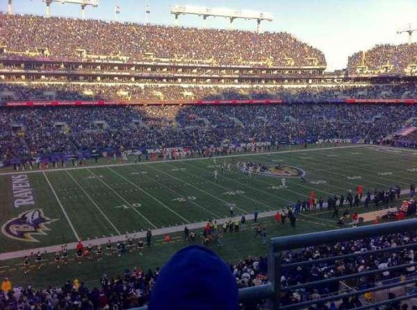 M&T Bank Stadium, secção: 231, fila: 2, lugar: 1