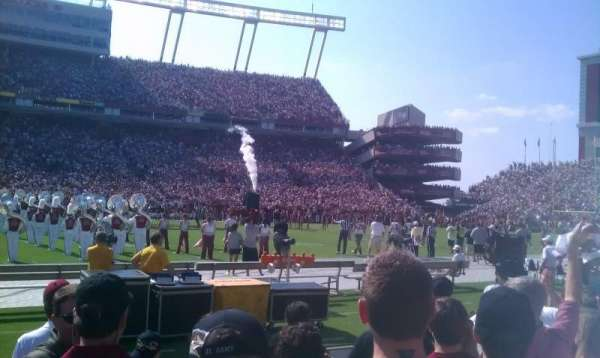 Williams-Brice Stadium, secção: 20, fila: A6, lugar: 28