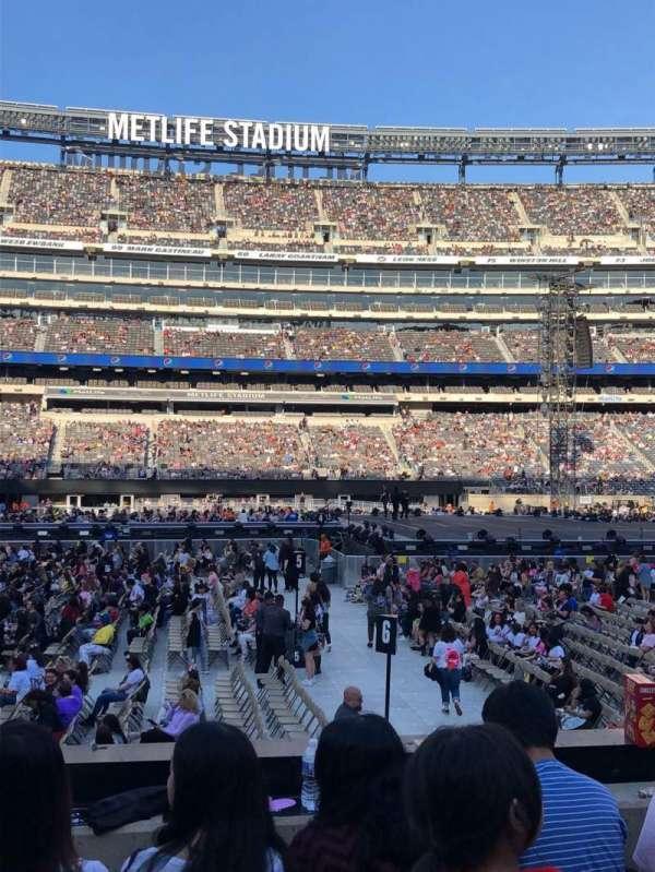 MetLife Stadium, secção: 139, fila: 9, lugar: 26