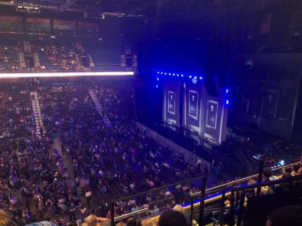 Mohegan Sun Arena, secção: 107, fila: F, lugar: 4