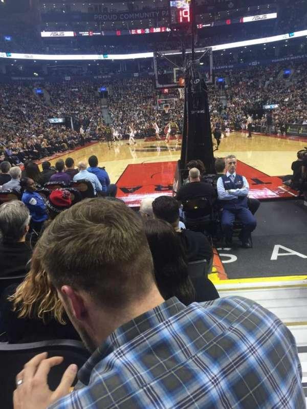 Scotiabank Arena, secção: 103, fila: F, lugar: 1