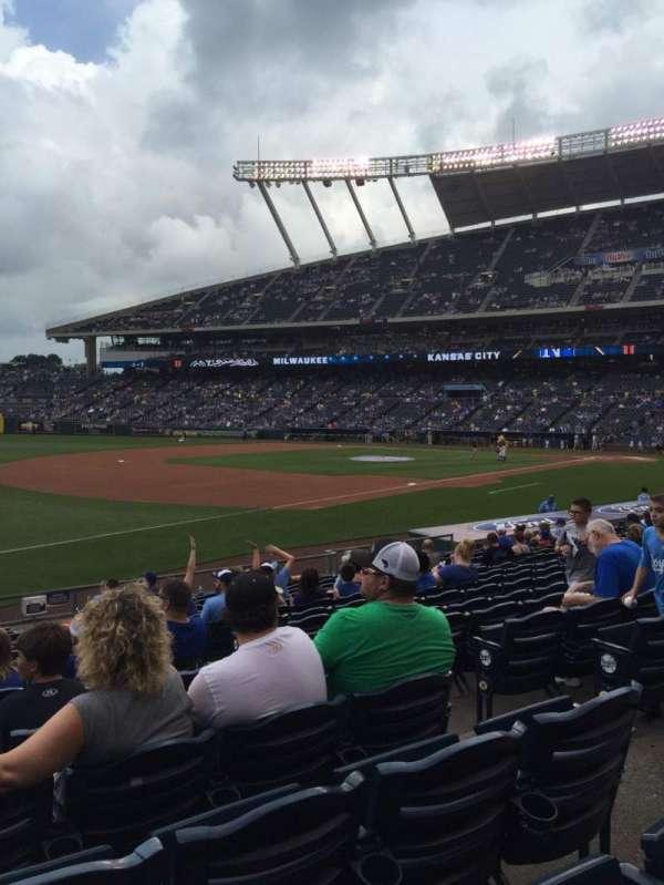 Kauffman Stadium, secção: 114, fila: S, lugar: 8