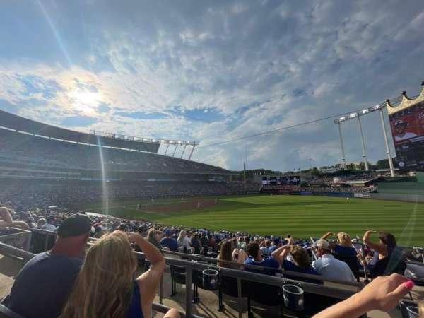 Kauffman Stadium, secção: 244, fila: BB, lugar: 5