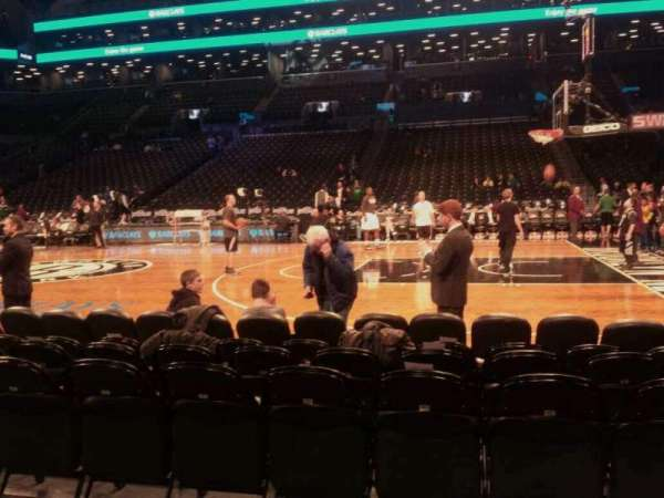Barclays Center, secção: 23, fila: 2, lugar: 8