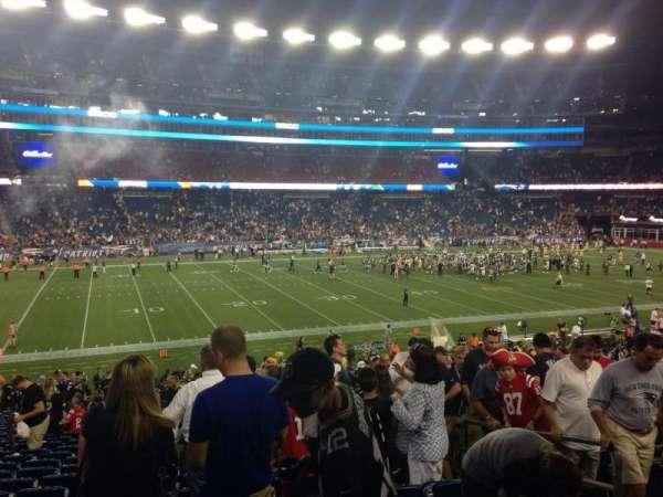 Gillette Stadium, secção: 135, fila: 32, lugar: 5