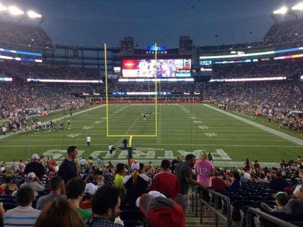 Gillette Stadium, secção: 143, fila: 28, lugar: 1