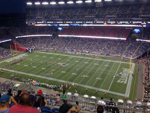 Gillette Stadium, secção: 327, fila: 14, lugar: 14