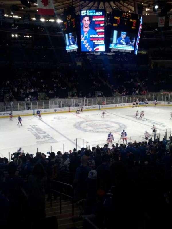 Madison Square Garden, secção: 226, fila: a, lugar: 4