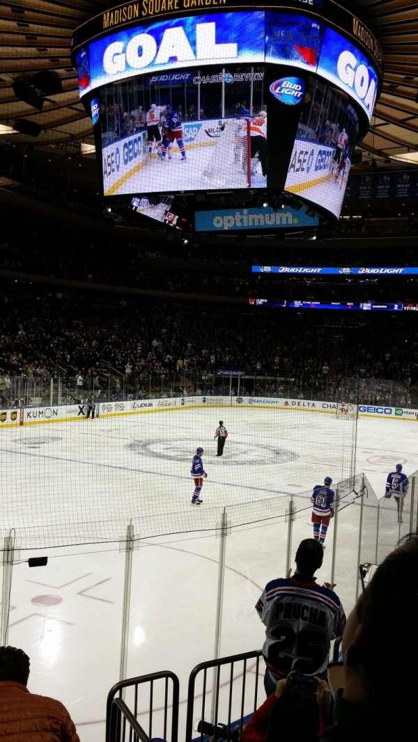 Madison Square Garden, secção: 103, fila: 5, lugar: 6