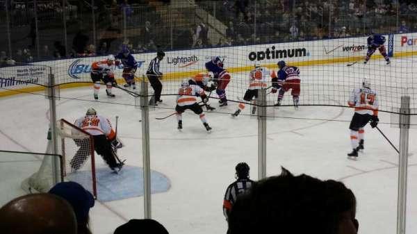Madison Square Garden, secção: 104, fila: 6, lugar: 5