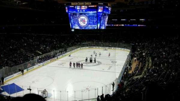 Madison Square Garden, secção: 219, fila: 4, lugar: 10