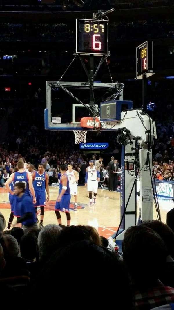Madison Square Garden, secção: 2, fila: 3, lugar: 3