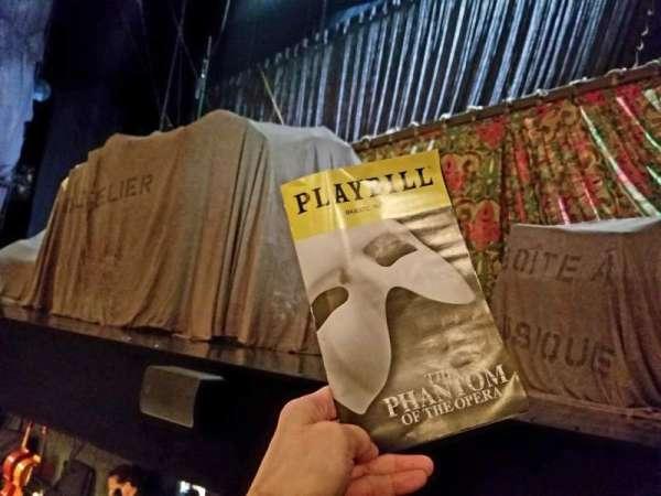 Majestic Theatre, secção: Orchestra R, fila: AA, lugar: 2