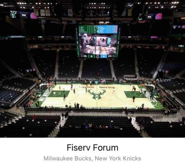 Fiserv Forum, secção: 208, fila: 7, lugar: 11