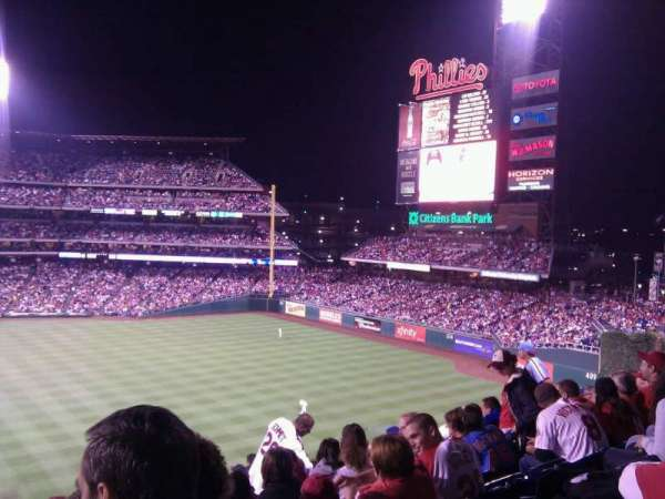 Citizens Bank Park, secção: 203, fila: 11, lugar: 16