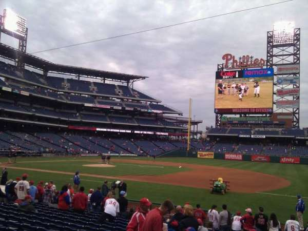 Citizens Bank Park, secção: 114, fila: 16, lugar: 12