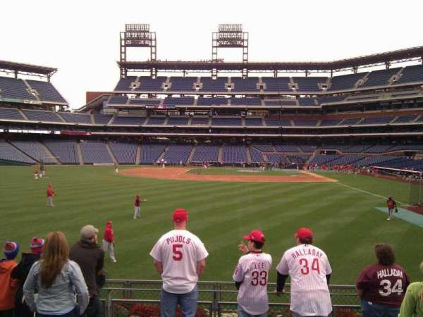 Citizens Bank Park, secção: 142, fila: 7, lugar: 16
