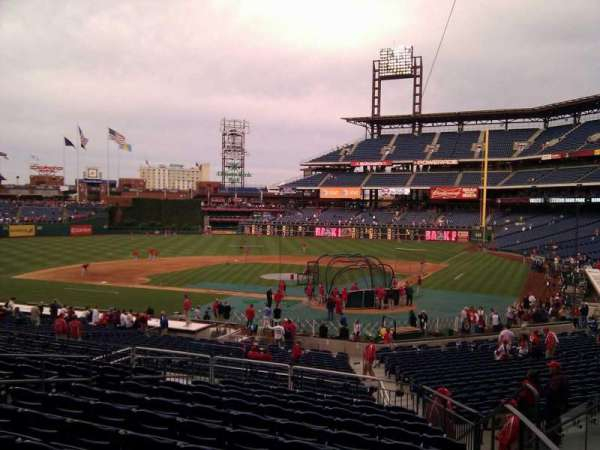 Citizens Bank Park, secção: 126, fila: 32, lugar: 5