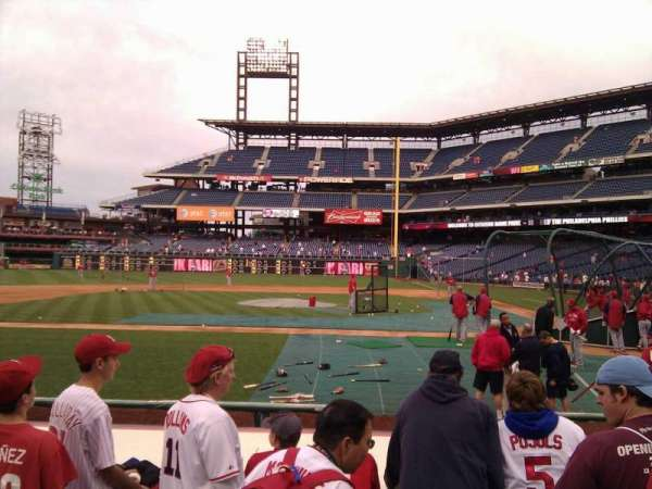 Citizens Bank Park, secção: 129, fila: 4, lugar: 7