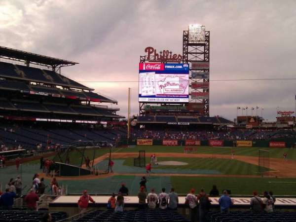 Citizens Bank Park, secção: 118, fila: 19, lugar: 4