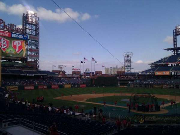 Citizens Bank Park, secção: 125, fila: 30, lugar: 13