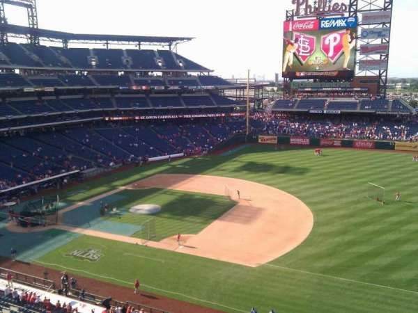 Citizens Bank Park, secção: 313, fila: 1, lugar: 5