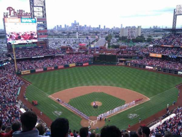 Citizens Bank Park, secção: 420, fila: 15, lugar: 12