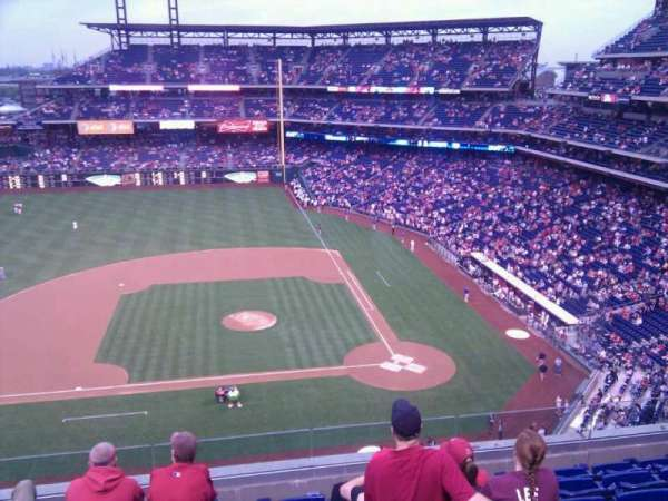 Citizens Bank Park, secção: 325, fila: 7, lugar: 20