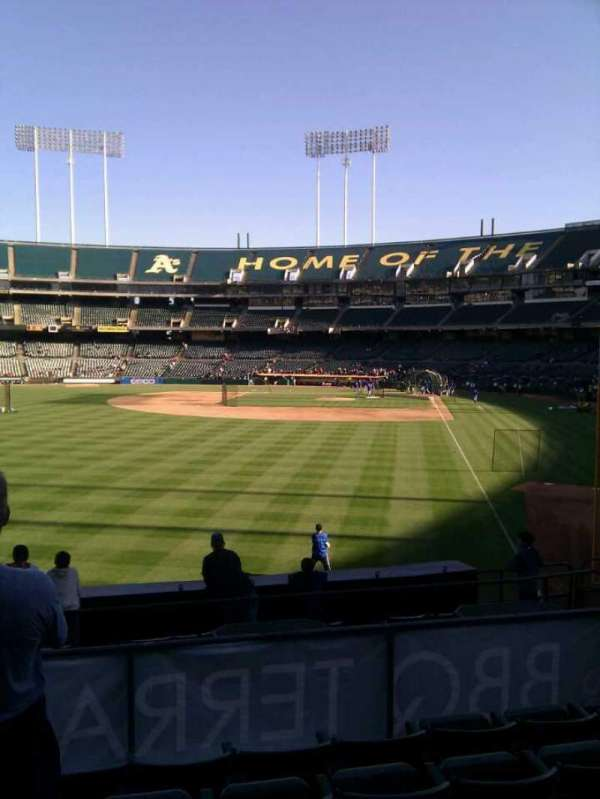 Oakland Coliseum, secção: 132, fila: 27, lugar: 13
