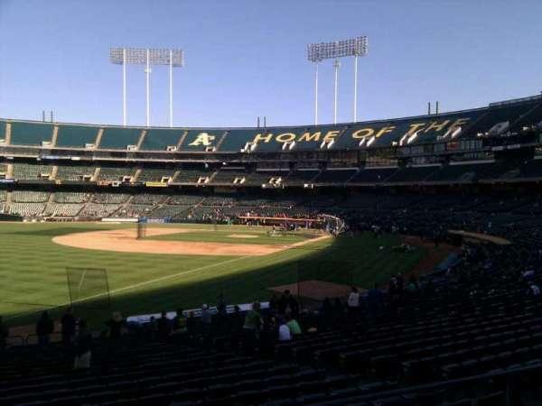 Oakland Coliseum, secção: 129, fila: 24, lugar: 12