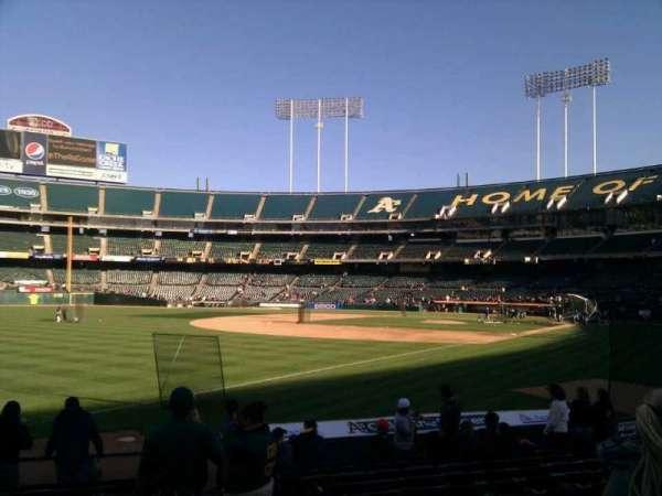 Oakland Coliseum, secção: 129, fila: 13, lugar: 3