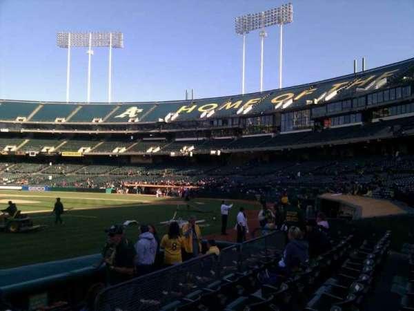 Oakland Coliseum, secção: 124, fila: 5, lugar: 5