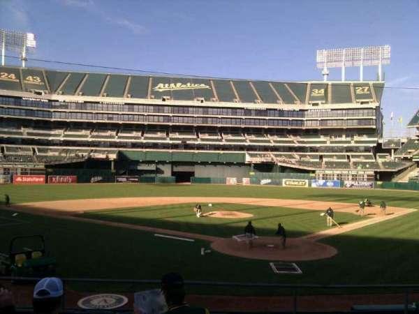 Oakland Coliseum, secção: 118, fila: 19, lugar: 5